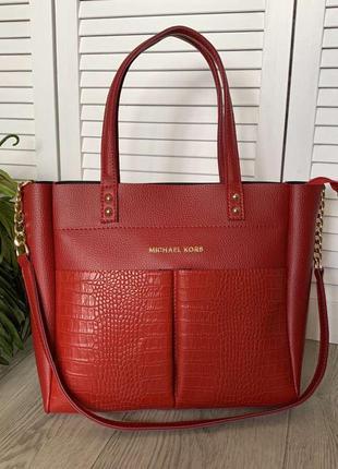 Большая сумка красного цвета