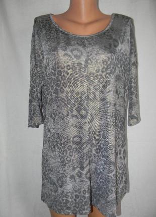 Новая трикотажная блуза с актуальным принтом