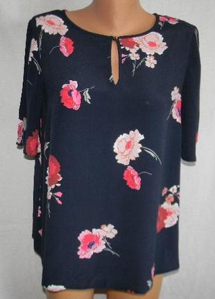 Натуральная блуза с принтом цветы