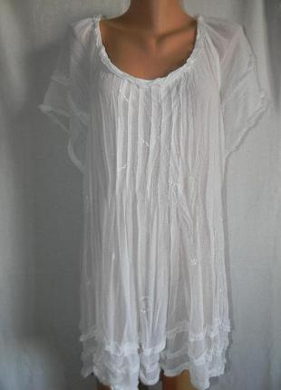 Новая белая блуза большого размера