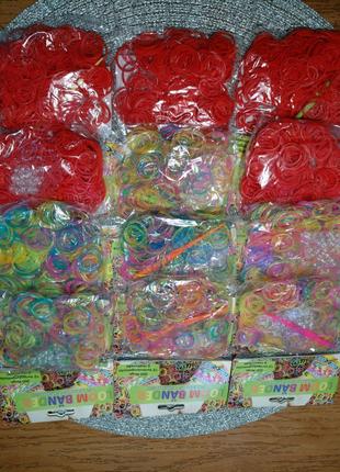 Резинки, резиночки д.плетения браслетов и пр. в 1уп.300шт. немец.