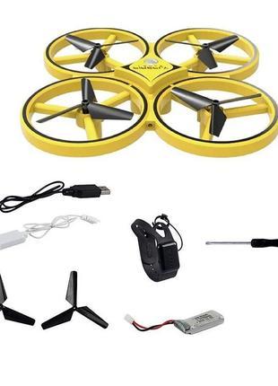 Квадрокоптер дрон с сенсорным управлением на руку, жестами