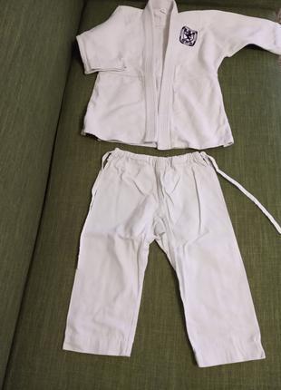 Кимоно для айкидо плетеное (унисекс) для детей