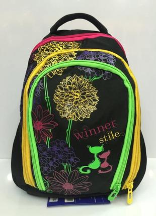 Школьный рюкзак Winner stile для девочек J-378 А ортопедический