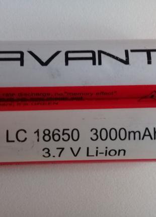 Аккумулятор 18650 Avant Li-Ion 3000mAh