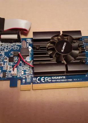 Видеокарта Gigabyte PCI-Ex GeForce 210 1024MB GDDR3