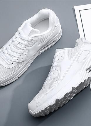 Мужские белые кроссовки под nike air max