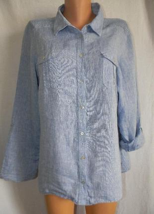 Рубашка лен большого размера