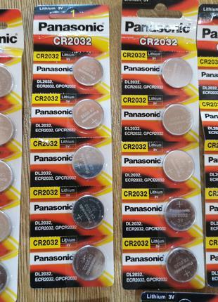 10шт Батарейка таблетка Panasonic 2032 3v li-ion