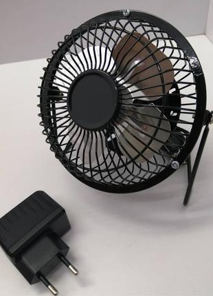 Настольный, металлический, 4-х лопастный USB вентилятор ideen wel