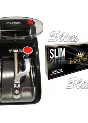 Электрическая машинка для гильз Slim Gerui GR-12 +KORONA SLIM 500