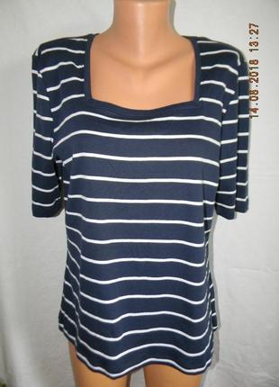 Новая блуза-футболка в полоску большого размера m&co