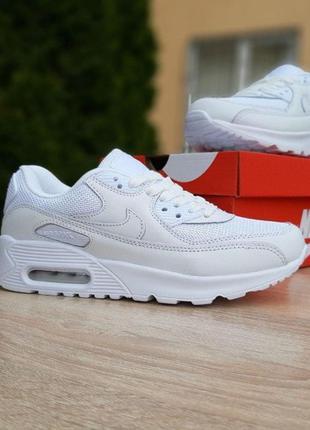 20094 Nike Air Max 90 белые кроссовки женские найк аир макс кр...