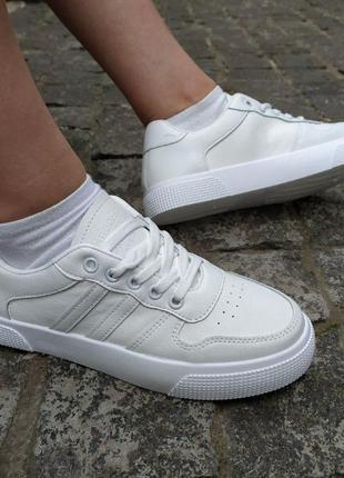 173 Женские кеды белые кроссовки кожа кросівки жіночі кросовки
