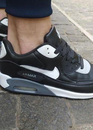182 Nike Air Max 90 черные кроссовки найк аир макс мужские