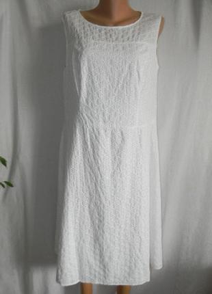 Белое натуральное платье pepperberry
