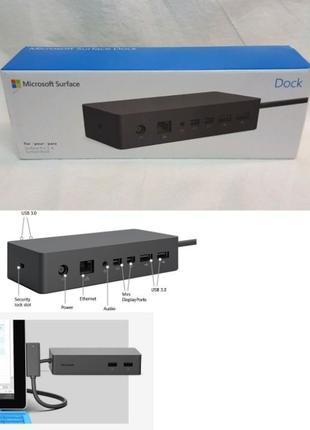 Docstation Microsoft Surface Pro 3 4 5 Докстанция для Book Lap...