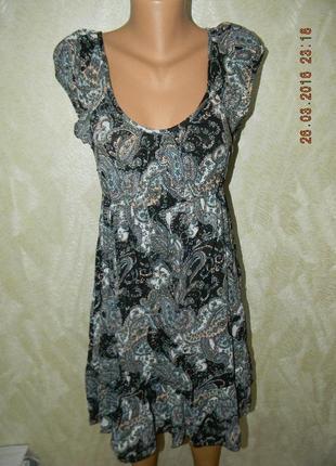 Платье натуральное легкое летнее с модным принтом