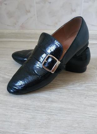 Женские туфли, женские лоферы, кожаные туфли без каблука