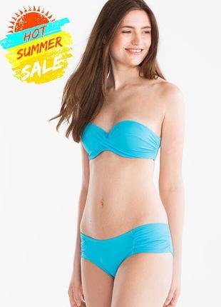 Классный голубой купальник германия c&a, верх 80в низ 36евро (...