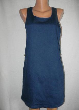 Джинсовое платье сарафан