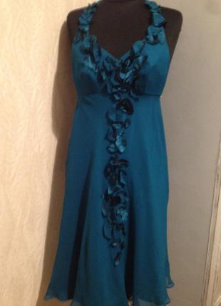 Платье 100%шелк.