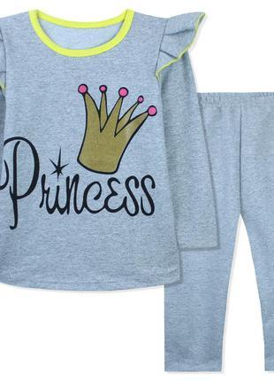 Костюм для девочки, серый. корона принцессы.