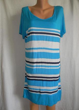 Новая трикотажное платье туника  в полоску