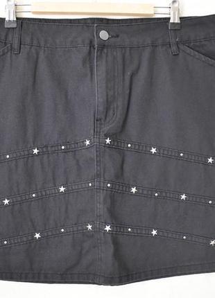Джинсовая юбка большого размера