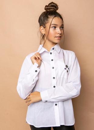 Рубашка блузка школа в школу девочке
