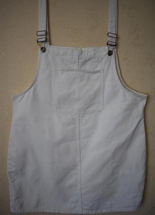 Кремовое джинсовое платье большого размера