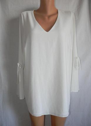 Новая стильная белая блуза evans