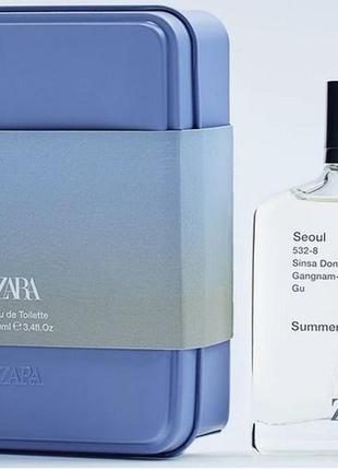 Zara seoul summer edt 100 ml туалетная вода мужская {оригинал ...