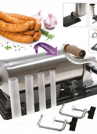 Шприц колбасный горизонтальный 3 кг для набивки колбас