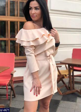 Платье с воланами.
