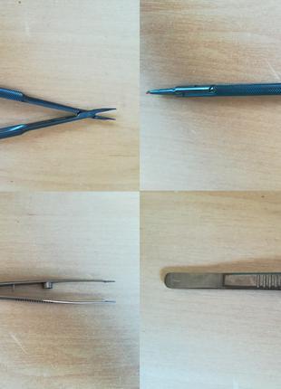 Офтальмолог инструменты пинцет скальпель иглодержатель