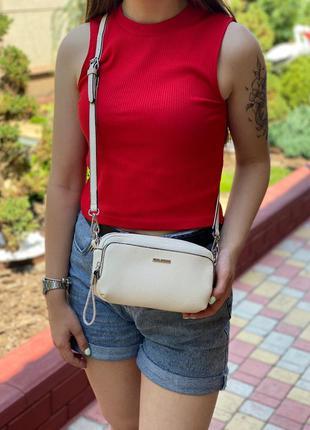 Женская сумка через плечо кросс-боди velina fabbiano белая
