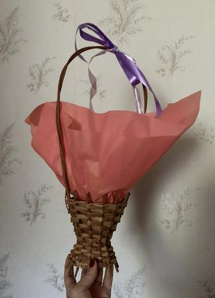 Подарочная корзинка. ваза