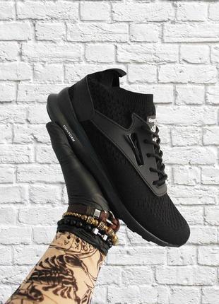 Кроссовки reebok zoku runner ultraknit black (черные)