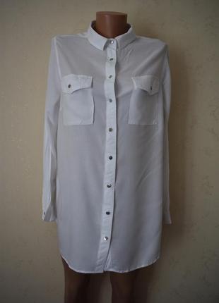 Вискозная блуза-рубашка