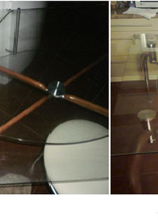 Ремонт стеклянных столешниц, витрин, столов с ВЫЕЗДОМ к клиенту