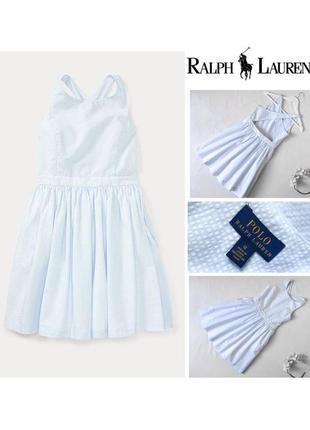 Детское платье ralph lauren оригинал бело-голубое платье в пол...