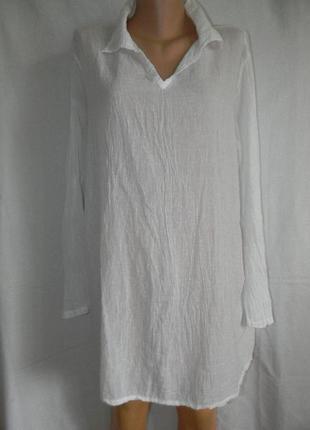 Белая натуральная блуза италия