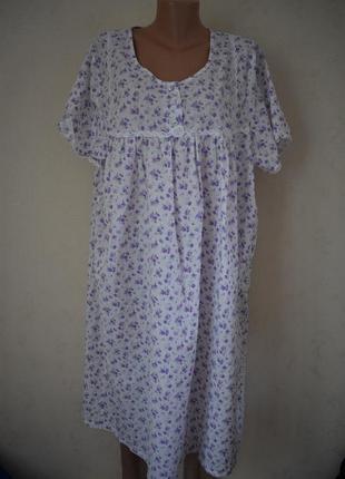 Ночная рубашка с принтом большого размера