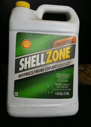 Антифриз SHELL ZONE Зелёный-Красный концентрат ОРИГИНАЛ