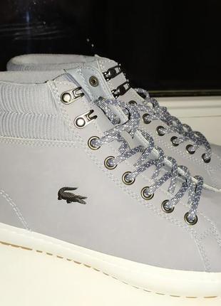 Зимние водонепроницаемые кожаные ботинки lacoste