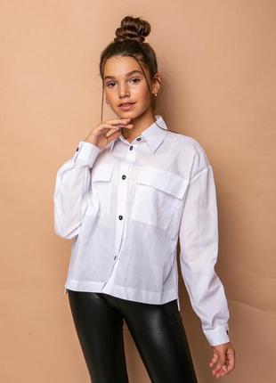 Рубашка блузка в школу девочке с 122 по 164 размер