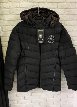 Мужская зимняя куртка в стиле philipp plein