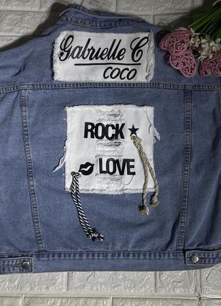 Женский стильный  джинсовый лепень