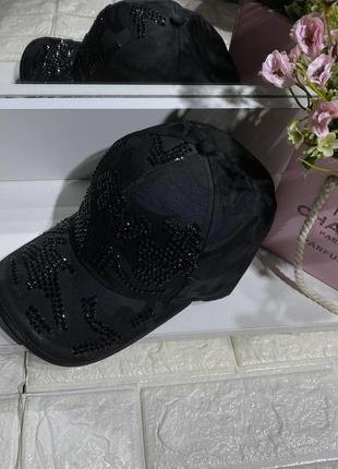 Женская кепка 🧢 милитари в стразах 🖤